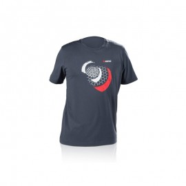 T-SHIRT MESH GREY BLUE AKRAPOVIC M